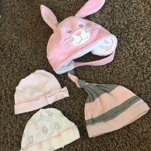 *3 for $12* 0-3 Month Baby Girl Hats